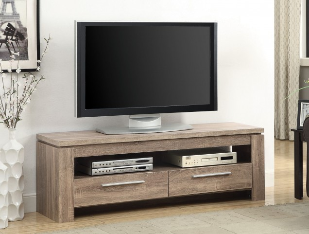 701975 Weathered Brown Storage TV Console