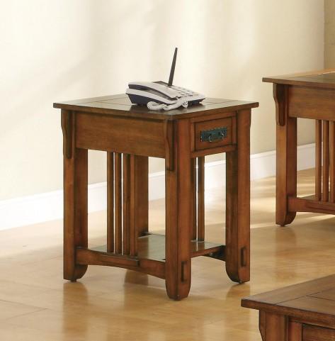 Oak Chairside Table 702006