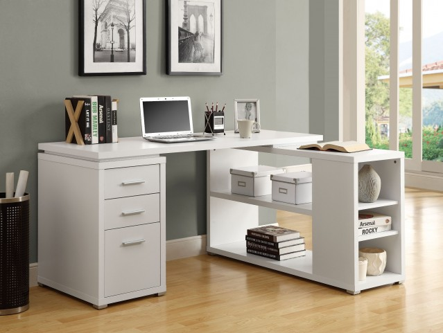 7023 White Left Or Right Facing Corner Desk