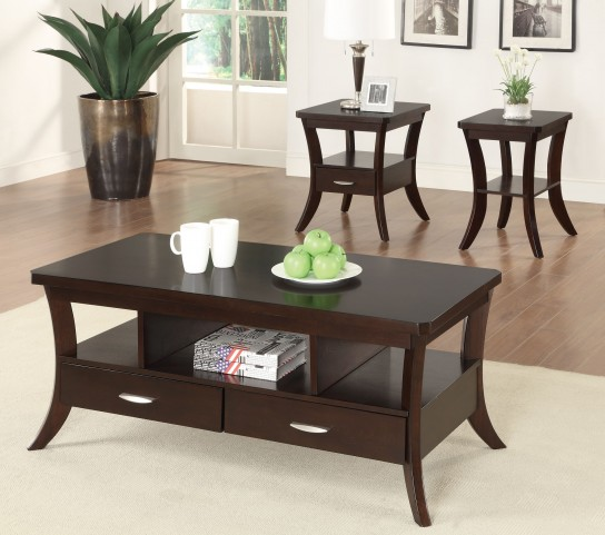 702508 Espresso Occasional Table Set