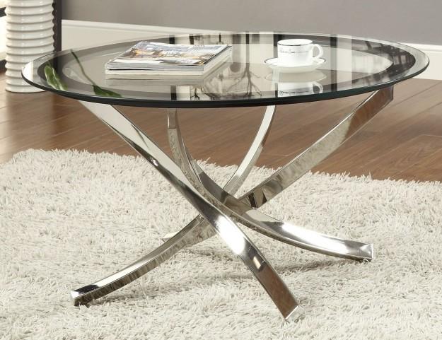 702588 Black/Chrome Coffee Table