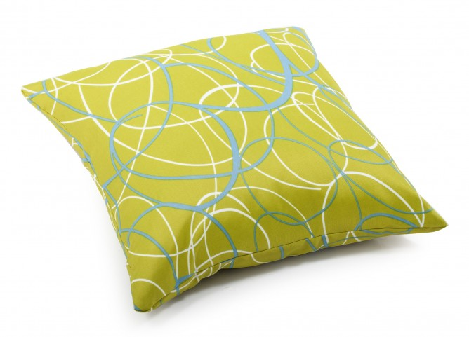 Bunny Olive Green base Large Pillow with pattern