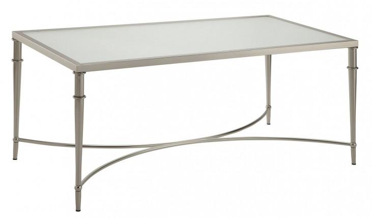 703348 Satin Nickel Coffee Table