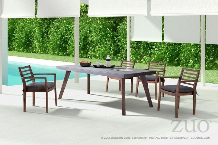 Son Cement & Natural Rectangular Dining Room Set