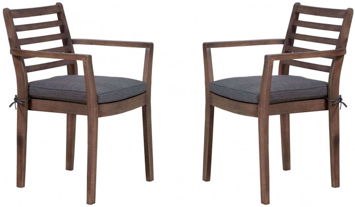 Sancerre Natural & Gray Dining Chair Set of 2