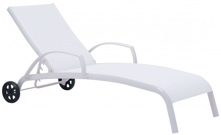 Casam White Chaise Lounge