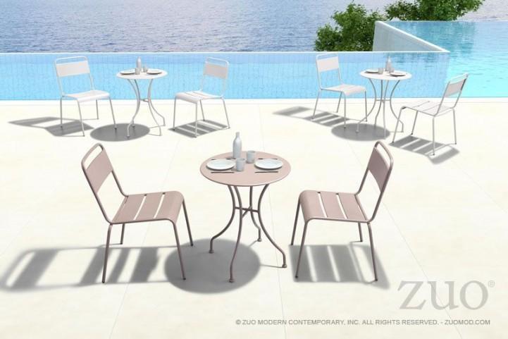 Oz Taupe Round Dining Room Set
