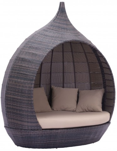 Martinique Beach Brown & Beige Daybed