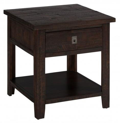 Kona Grove Rustic Chocolate Square End Table