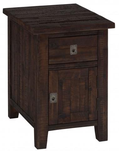 Kona Grove Rustic Chocolate Cabinet Chairside Table