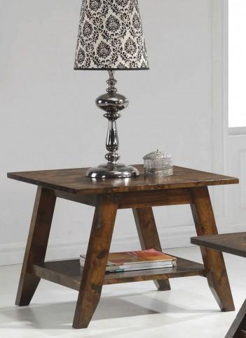 Rustic Pecan End Table