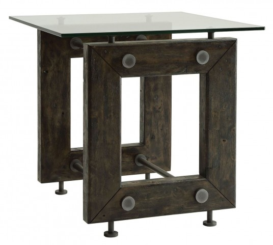 Tempered Glass Top End Table