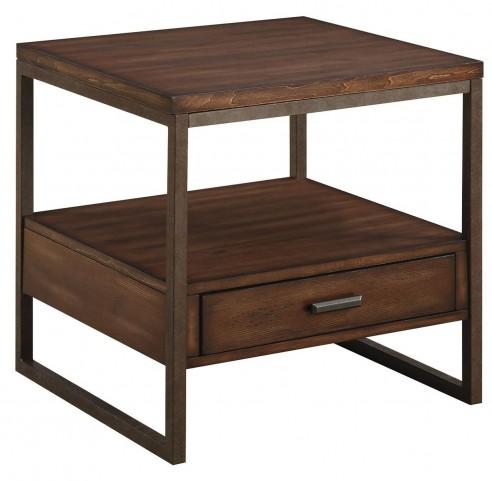 Ellery Rustic Brown Metal End Table