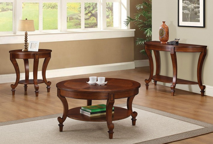Inlay Table Top Occasional Table Set