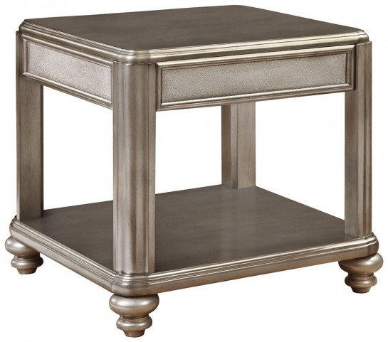 704617 Metallic Platinum End Table