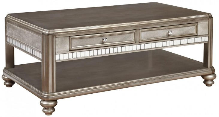 704618 Metallic Platinum Coffee Table