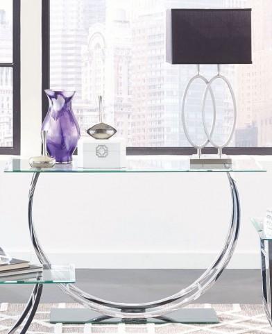 Chrome Glass Top Sofa Table