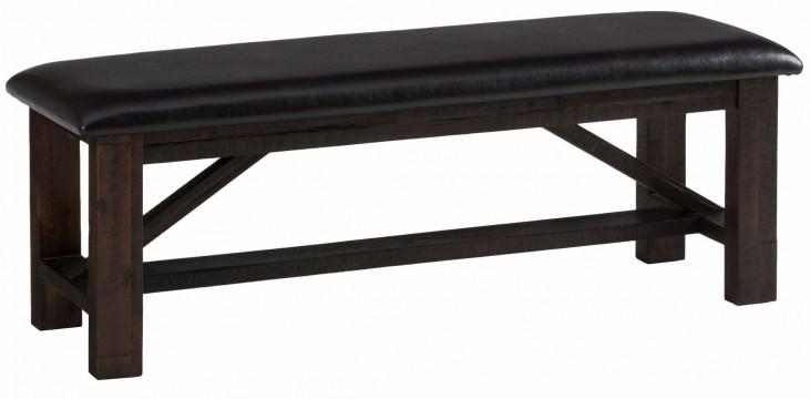 Kona Grove Rustic Chocolate Upholstered Bench