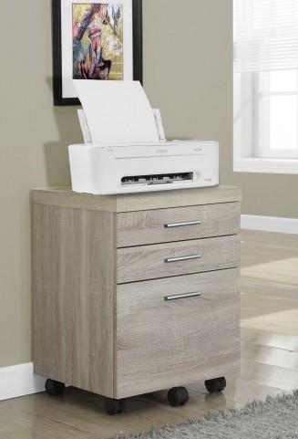 Natural Reclaimed-Look 3 Drawer Castors File Cabinet