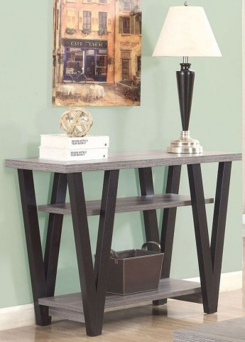 Antique Grey and Black Sofa Table