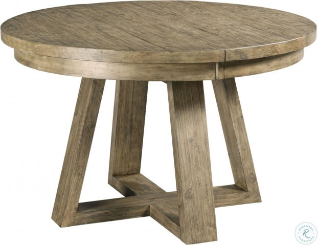 Incredible Plank Road Stone Button Extendable Round Dining Table Home Interior And Landscaping Fragforummapetitesourisinfo
