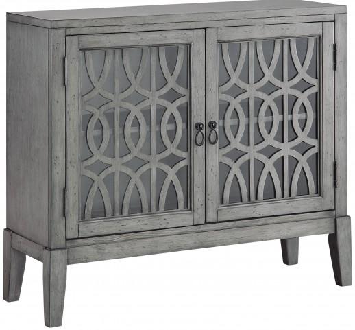 Distressed Soft Grey 2 Door Cabinet