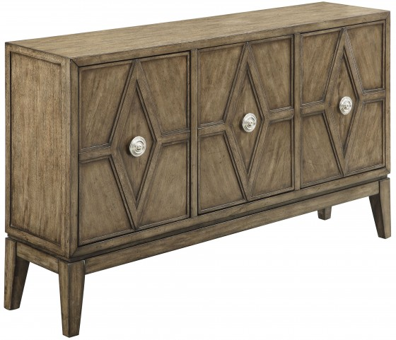 Kire Burnished Parchment 3 Door Credenza