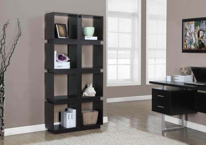 """Cappuccino Hollow-Core 71"""" Bookcase"""