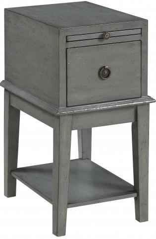 Joplin Texture Grey One Drawer Chairside Chest