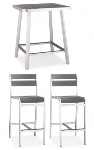 Megapolis Brushed Aluminum Bar Set