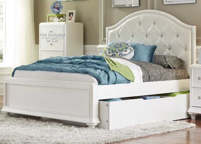 Stardust Iridescent White Youth Panel Trundle Bedroom Set