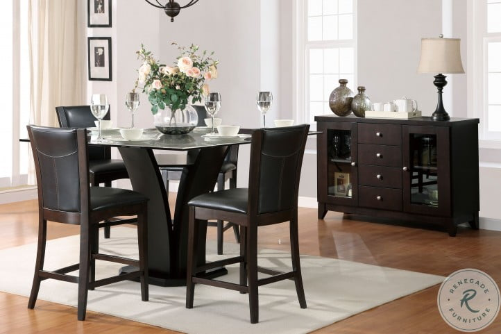 Daisy Brown Counter Height Dining Room Set