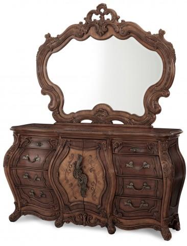 Palais Royale Triple Dresser with Mirror