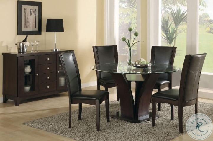 "Daisy Espresso 54"" Round Dining Table"