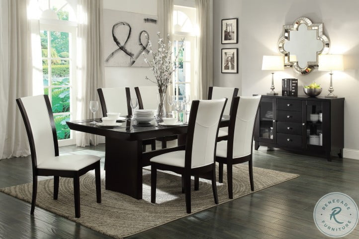Daisy Espresso Glass Top Dining Table