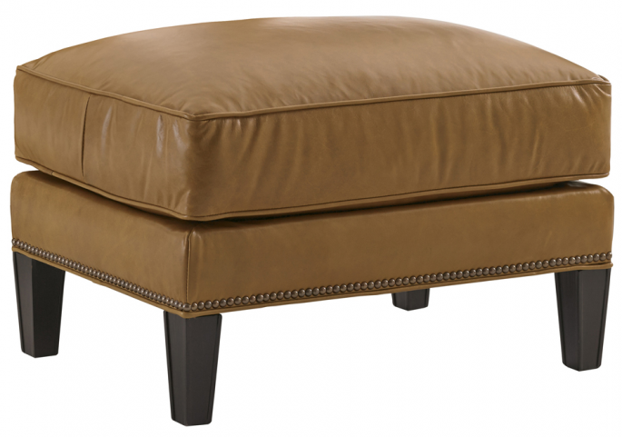 Kensington Place Ashton Brown Leather Ottoman