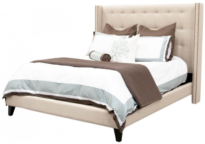 Villa Oatmeal Weston Cal. King Platform Bed