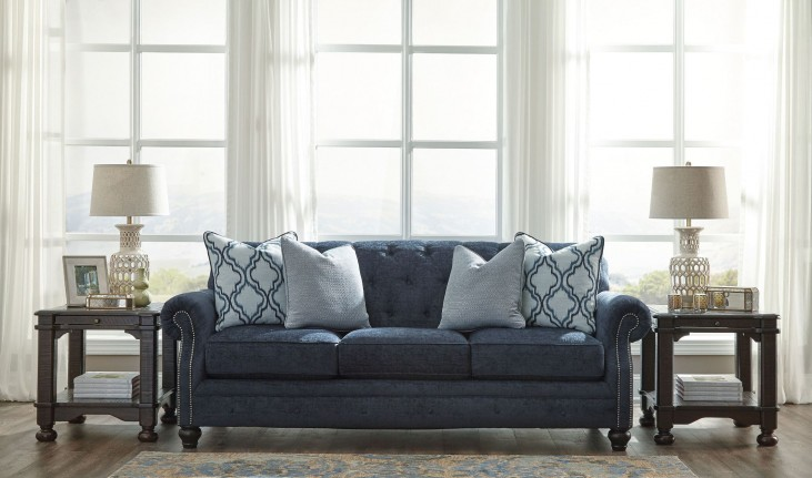 LaVernia Navy Sofa