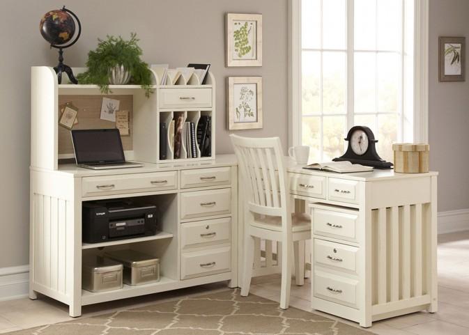 Hampton Bay White Home Office Set