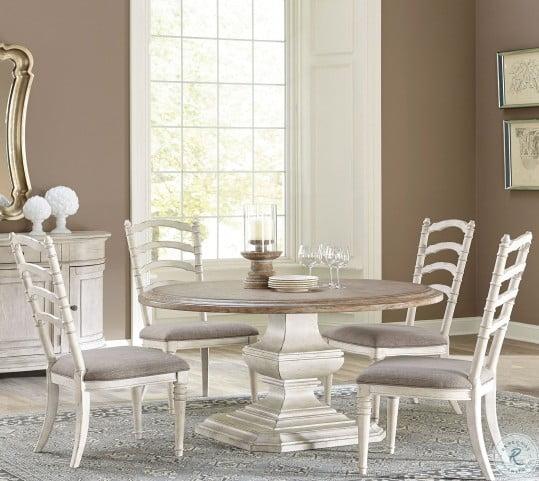 "Elizabeth Antique Oak 70"" Round Dining Table"