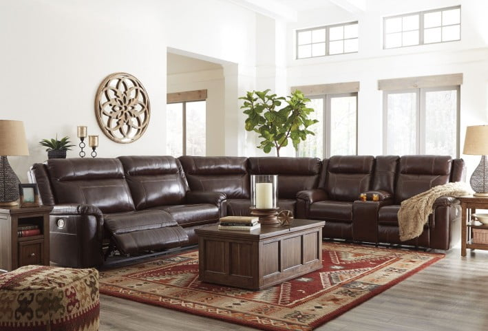Wyline Coffee Power Reclining Sectional From Ashley