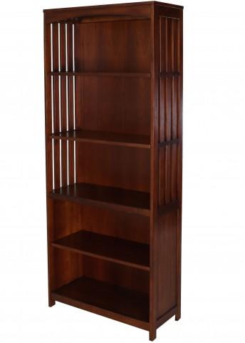 Hampton Bay Cherry Autumn Brown Open Bookcase