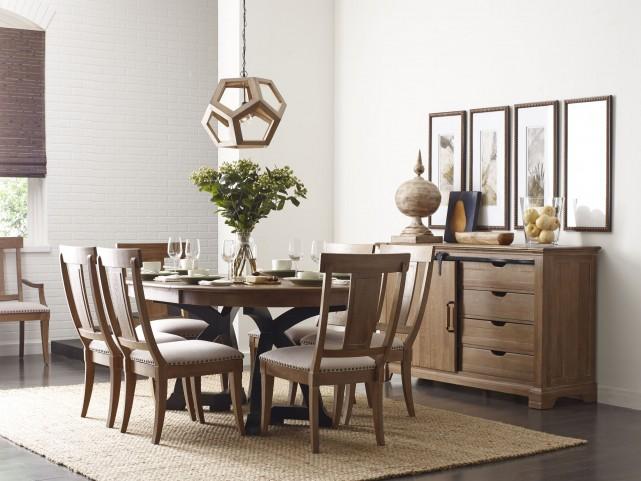 Stone Ridge Extendable Round Dining Room Set