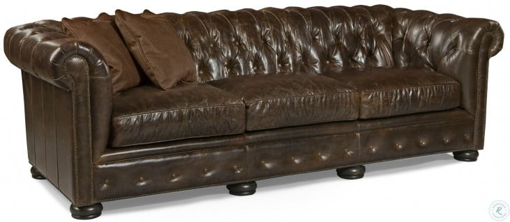 Fine Renaissance Brompton Brown Leather Sofa Inzonedesignstudio Interior Chair Design Inzonedesignstudiocom