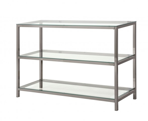 720229 Black Nickel Rectangular Sofa Table