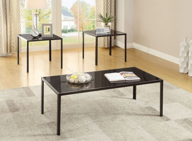 Black 3 Piece Occasional Table Set