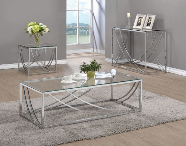 720498 Chrome Occasional Table Set