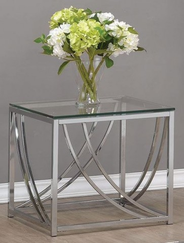Chrome End Table