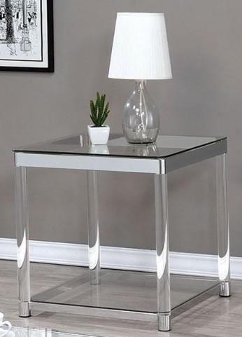 Chrome and Clear Acrylic End Table