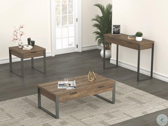 723158 Aged Walnut Coffee Table